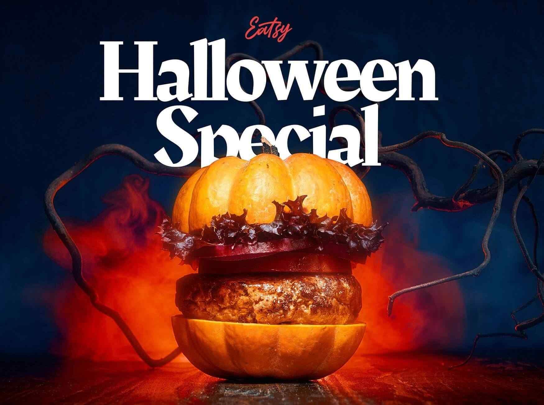Halloween Special Vegan Burger