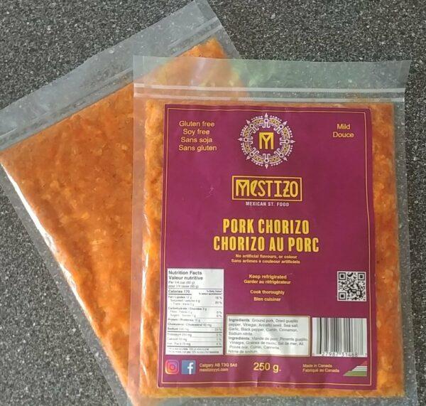 Pork chorizo pack of 250 g.