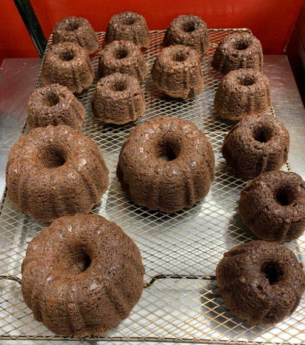 Chocolate Rum Cakes