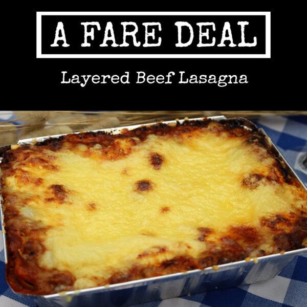 Layered Beef Lasagna