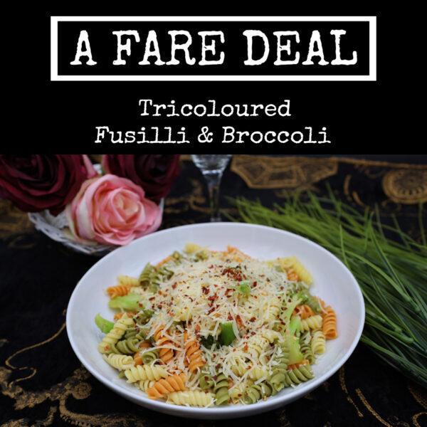 Tri Coloured Fusilli & Broccoli