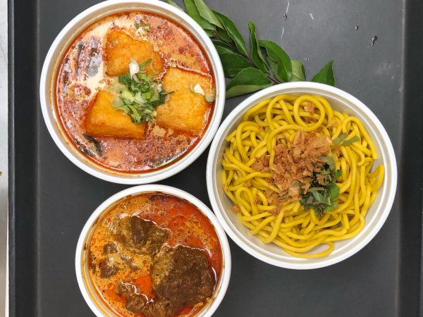 Beef Brisket Currt Laksa with Yellow Noodles